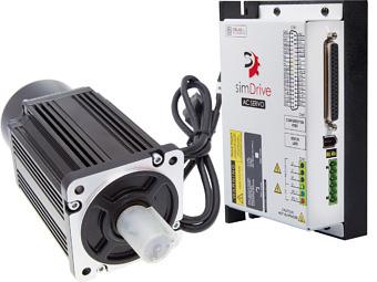 Servoantrieb simDrive 750W: Servoantrieb + Steuerung