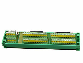 Anschlussleiste für DIN-Schiene DIN – DB25+DB25+DB9 terminal block + Anschlussbänder