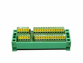 Anschlussleiste für DIN-Schiene DIN – DB25+DB9 terminal block + Anschlussbänder