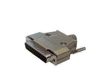 Stecker DB25 MALE in Metallgehäuse