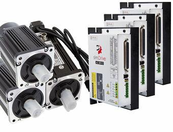 Servoantriebe simDrive 750W für 3 Achsen: Servoantrieb + Servomotor (Bremse)